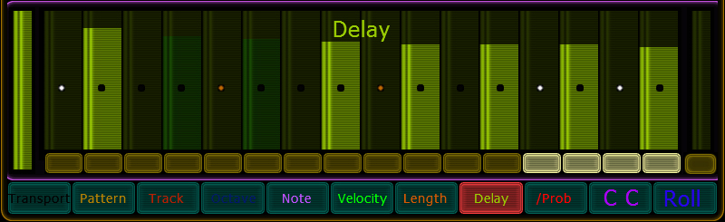 delay values